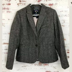 Boden Elizabeth British Tweed Blazer Brown